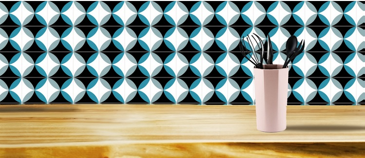 colored and patterns cement tiles for wall