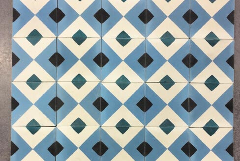 Modern colored cement tiles for wall in Coventry by Cimenterie de la Tour