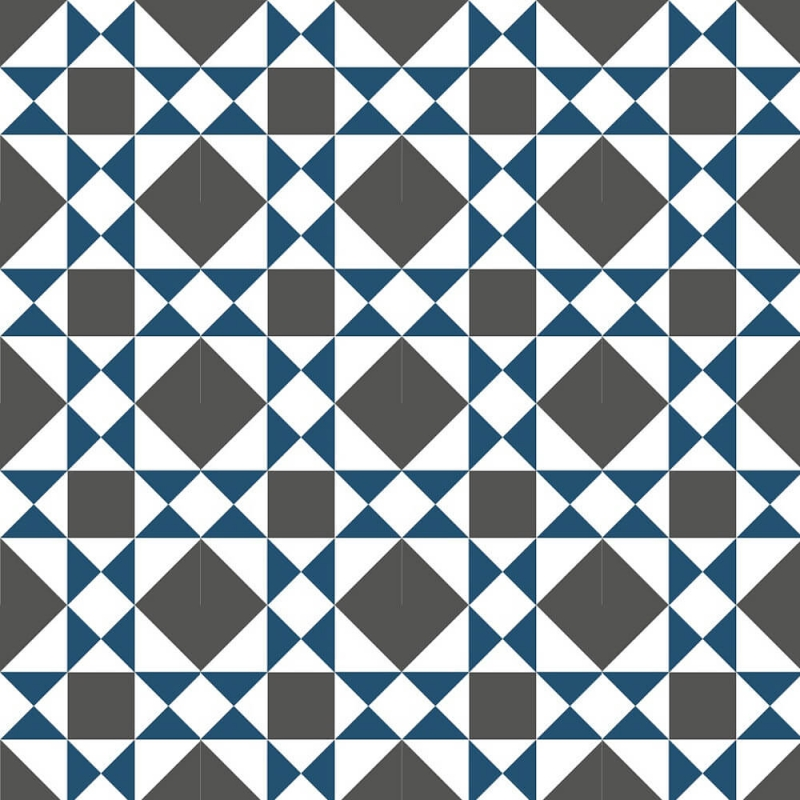 geometric and blue cement tiles by by cement tiles co uk
