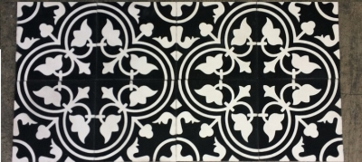 black and white cement tiles in england