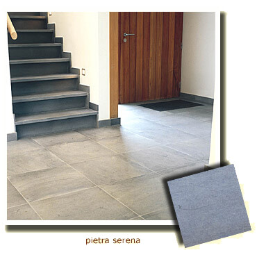 hall in natural stone