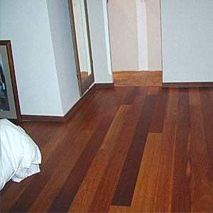 red solid oak parquet