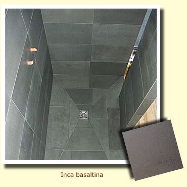 shower in grey stone