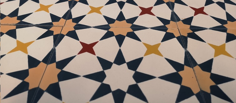 stay wirth colored cement tiles