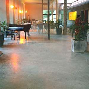 tinted concrete floor screed