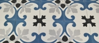 blue cement tiles for a bedroom