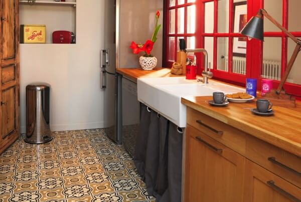 kitchen cement tiles