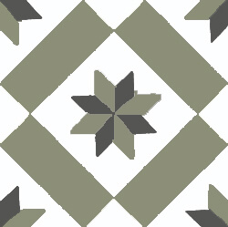 star patterns in cement tiles