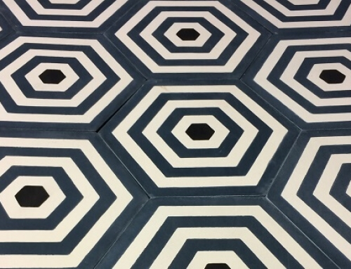 Lay cement tiles in a modern house