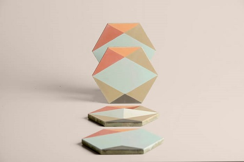 hexagonal cement tiles create by eli gutierrez for Cimenterie de la Tour