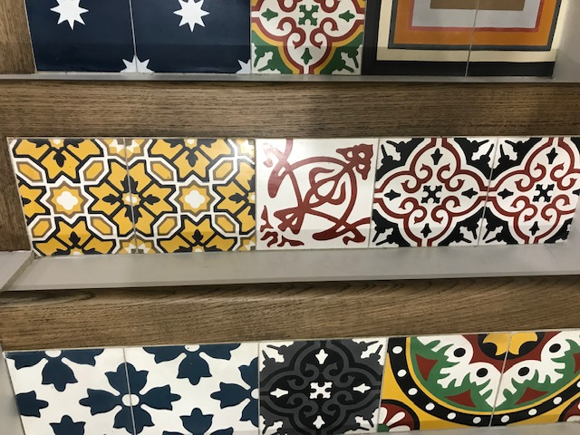 stairs cement tiles patchwork