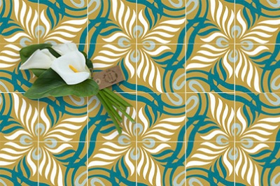 modern and floral cement tiles