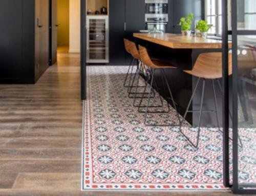 Cement tiles in living spaces