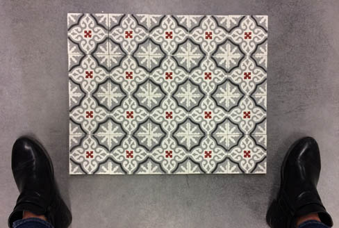 Cement tiles for wall in Liverpool England, Cimenterie de la Tour