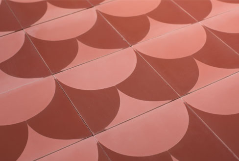Contemporary stil cement tiles for kitchen in Liverpool England, Cimenterie de la Tour