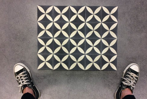 Modern cement tiles for wall Liverpool England, Cimenterie de la Tour