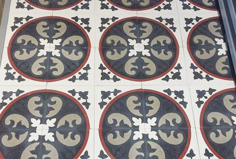 Cement tiles old in Birmingham England,Cimenterie de la Tour