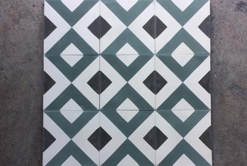 Geometric and modern cement tiles in Nottingham, Cimenterie de la Tour