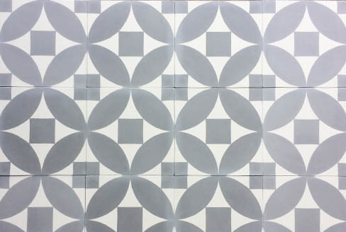 Modern and grey cement tiles kitchen in Coventry by Cimenterie de la Tour