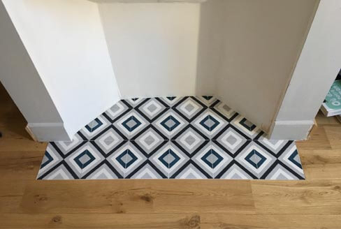 Sojourn in modern cement tiles in Coventry by Cimenterie de la Tour