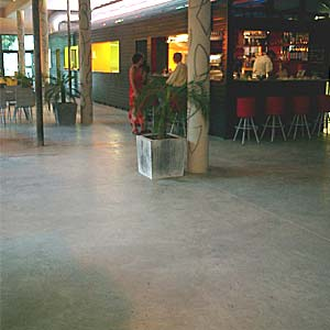 out tinted concrete floor screed