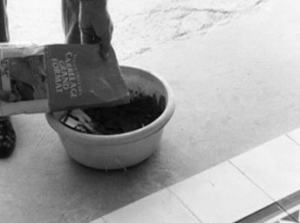 Laying cement tiles 1