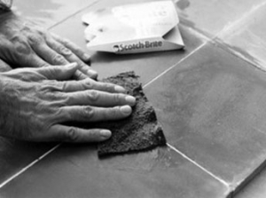 Laying cement tiles 10