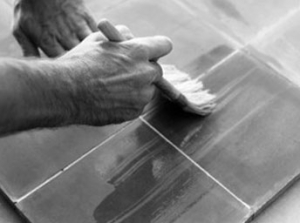 Laying cement tiles 11