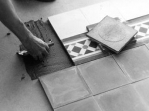 Laying cement tiles 2
