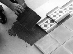 Laying cement tiles 3