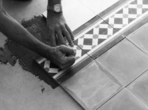 Laying cement tiles 4