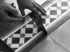 Laying cement tiles 6