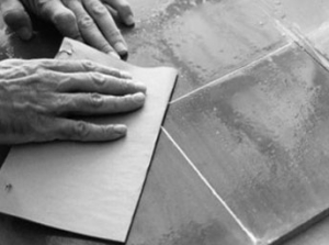 Laying cement tiles 9