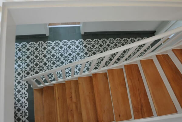 staircase cement tiles