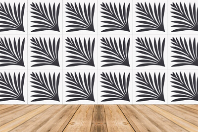 black and white cement tiles designed by designer