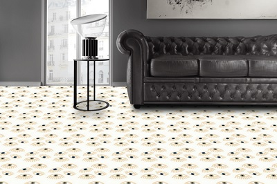 modern and orange cement tiles