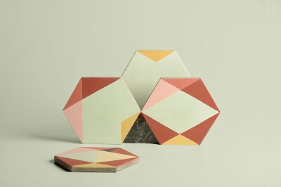 hexagon cement tiles design by the designer eli gutierrez